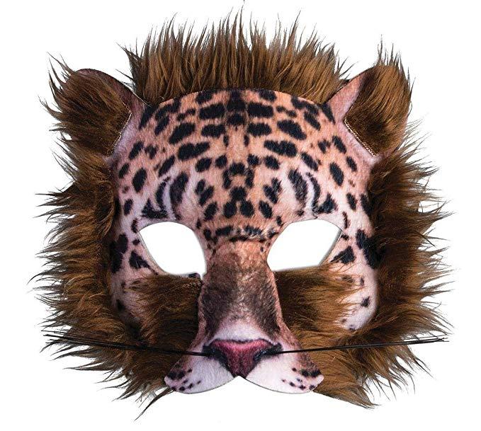 Amazon Com Forum Novelties 3d Print Costume Half Mask Leopard Toys Games Animal Masks Leopard Animal Animals