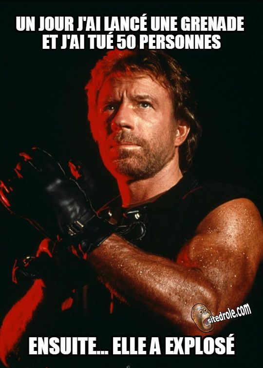 la grenade de chuck norris pinterest chuck norris humour and chuck norris memes. Black Bedroom Furniture Sets. Home Design Ideas