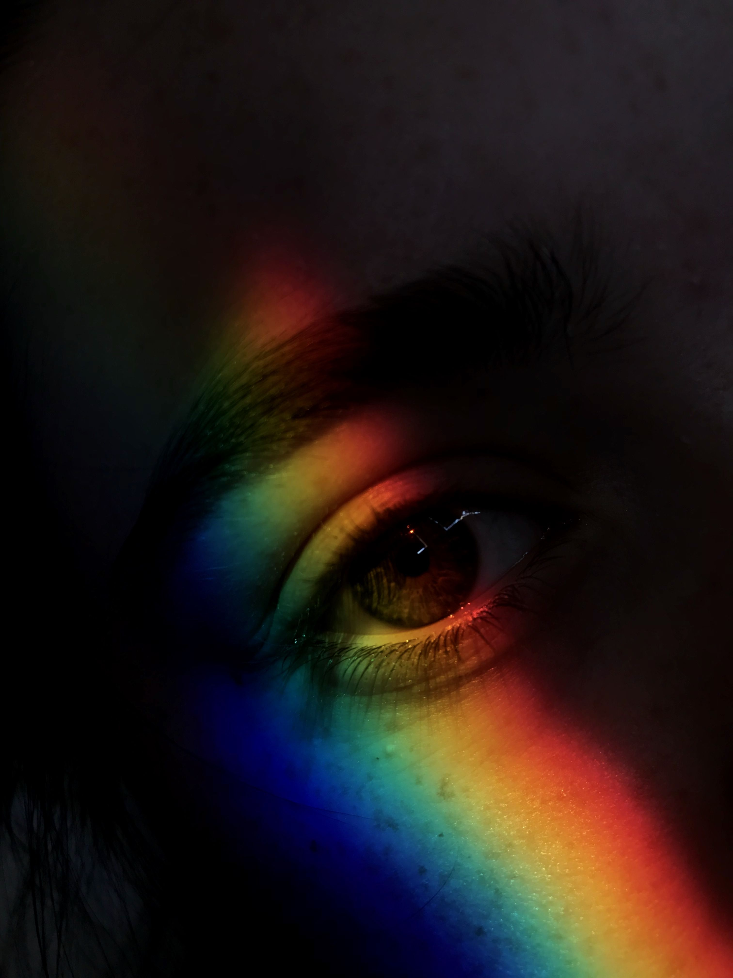 @rosyvdv #eyes #rainbow #photography | Rainbow aesthetic ...