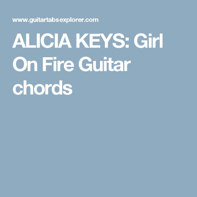 ALICIA KEYS: Girl On Fire Guitar chords | chords - guitar/piano ...