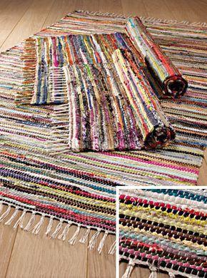 Hippy Rug Multi Coloured Rag Rug Eco Recycled Hippy Rug 60 X 90cm Fair Trade R23 Tryapichnye Kovriki Pletenyj Kover Kovry Uzory