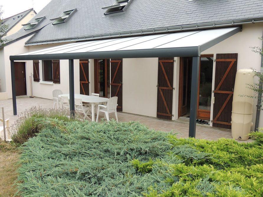 pergola toit polycarbonate sur mesure gris anthracite 7016 usine ...