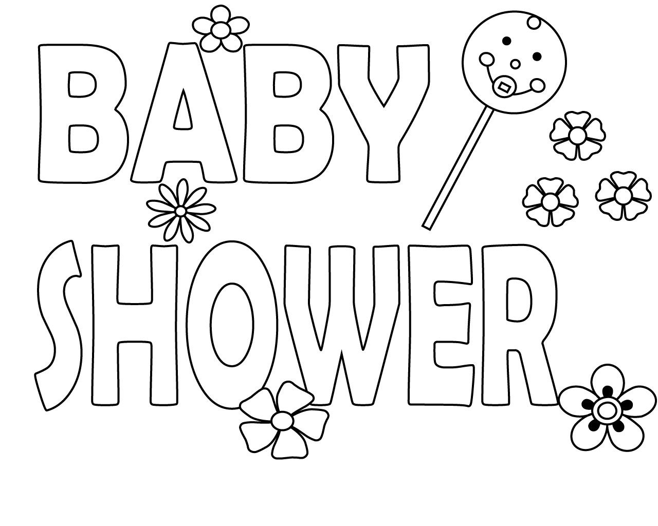 Baby Boy Shower Coloring Pages