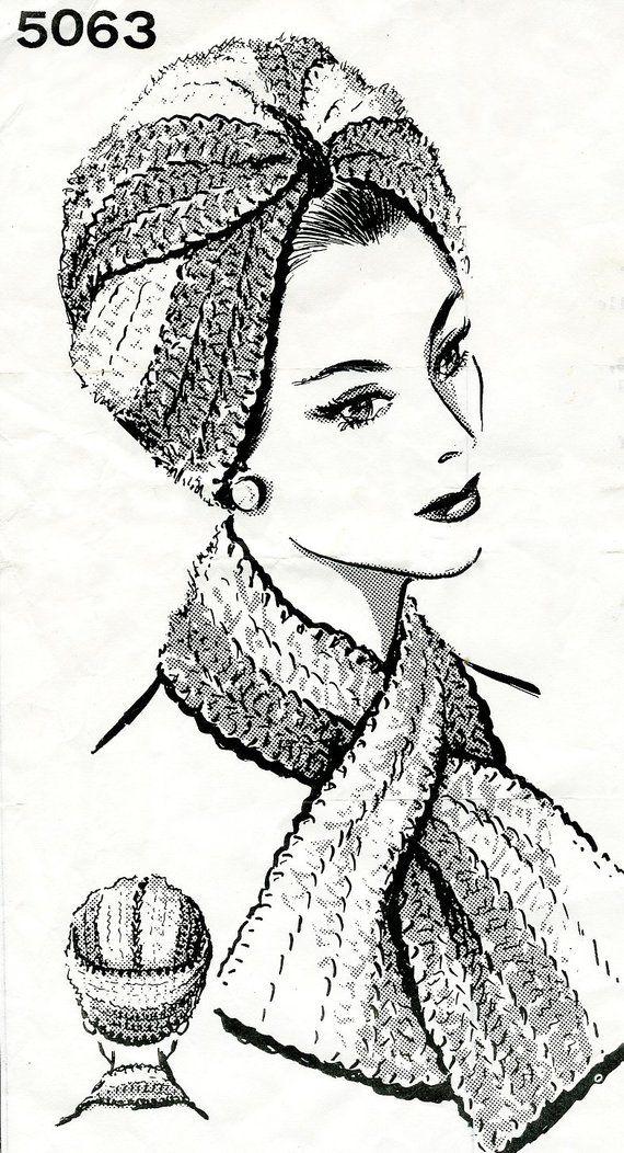 Crochet Turban Hat Pattern, vintage inspired crochet