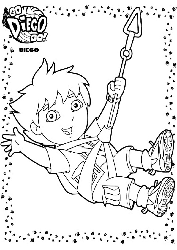 nick jr diego coloring pages - photo#7