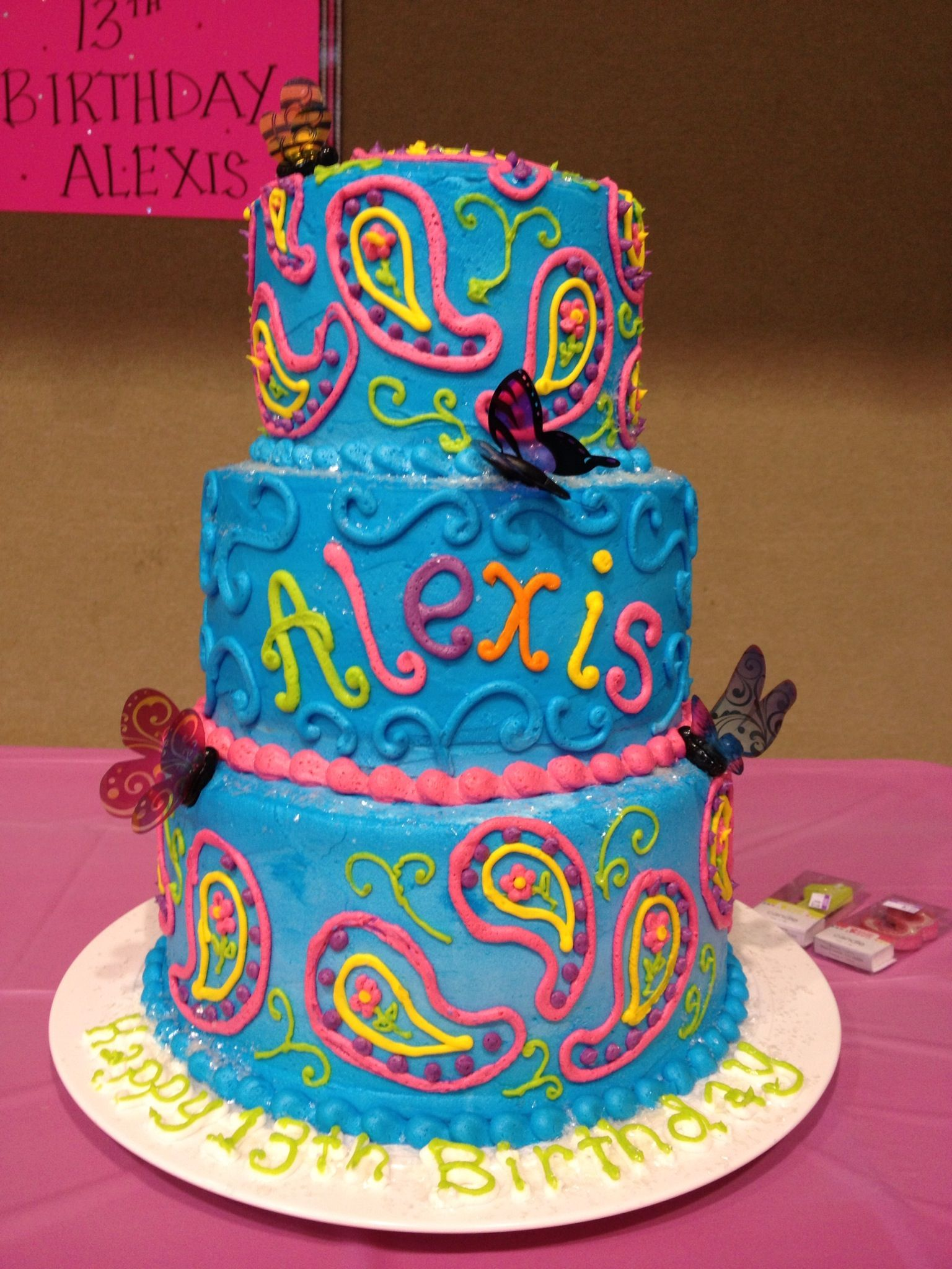 Cute Teen Birthday Cake. Love. Maybe I will do something ...