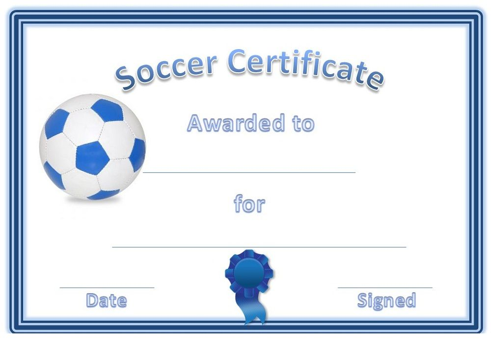 Soccer Award Certificates  Activity Shelter  Blank Certificate