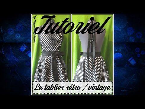Tuto couture - Coudre un tablier rétro - YouTube | diy couture ...