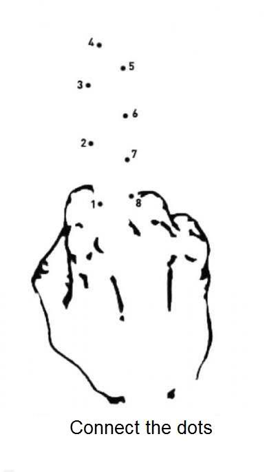"Image result for ""connect the dots"" middle finger"