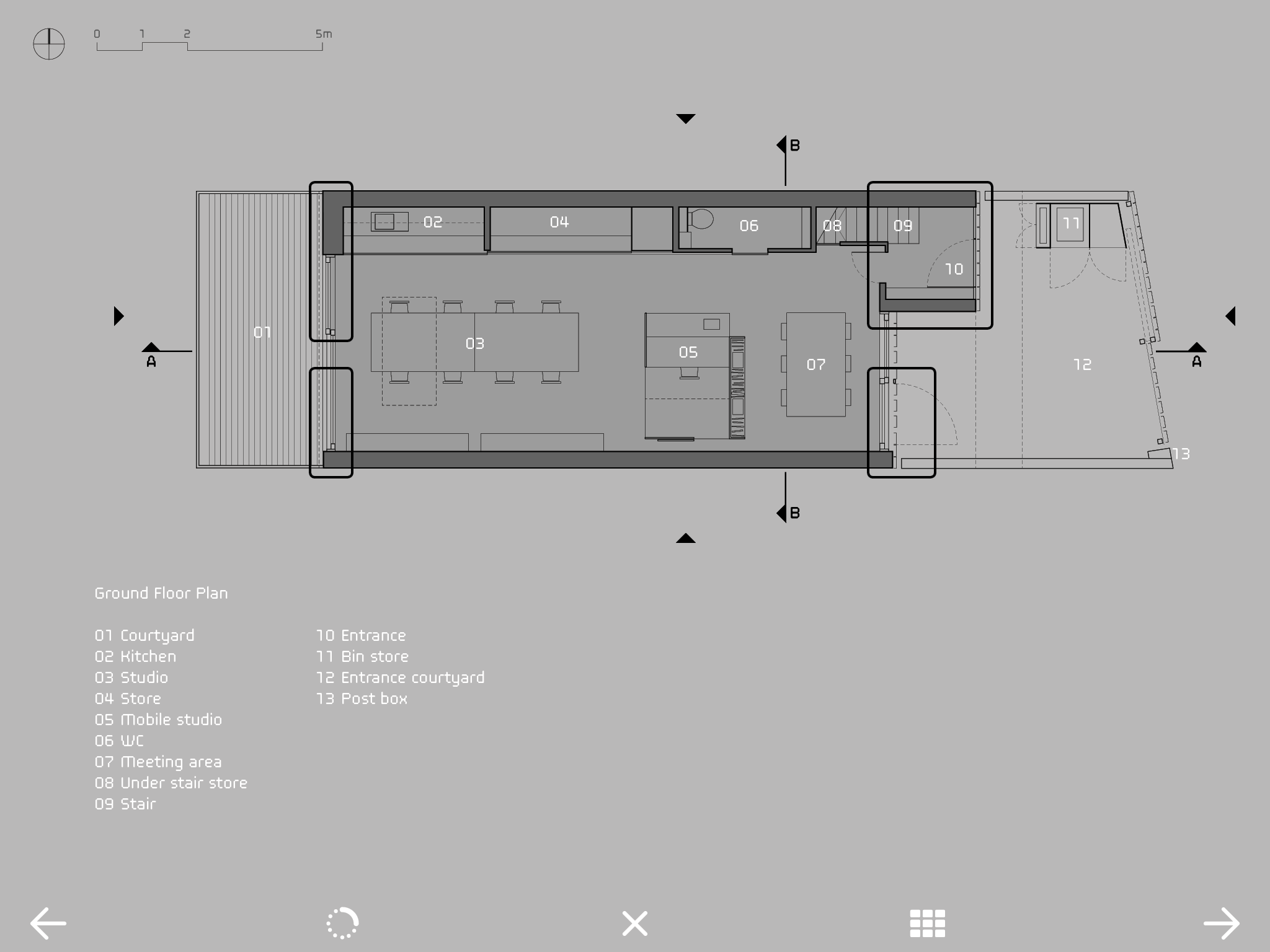 Interactive Floor Plan In Slip House Carl Turner Architects Published By Outcast Editions Floor Plans How To Plan Architect
