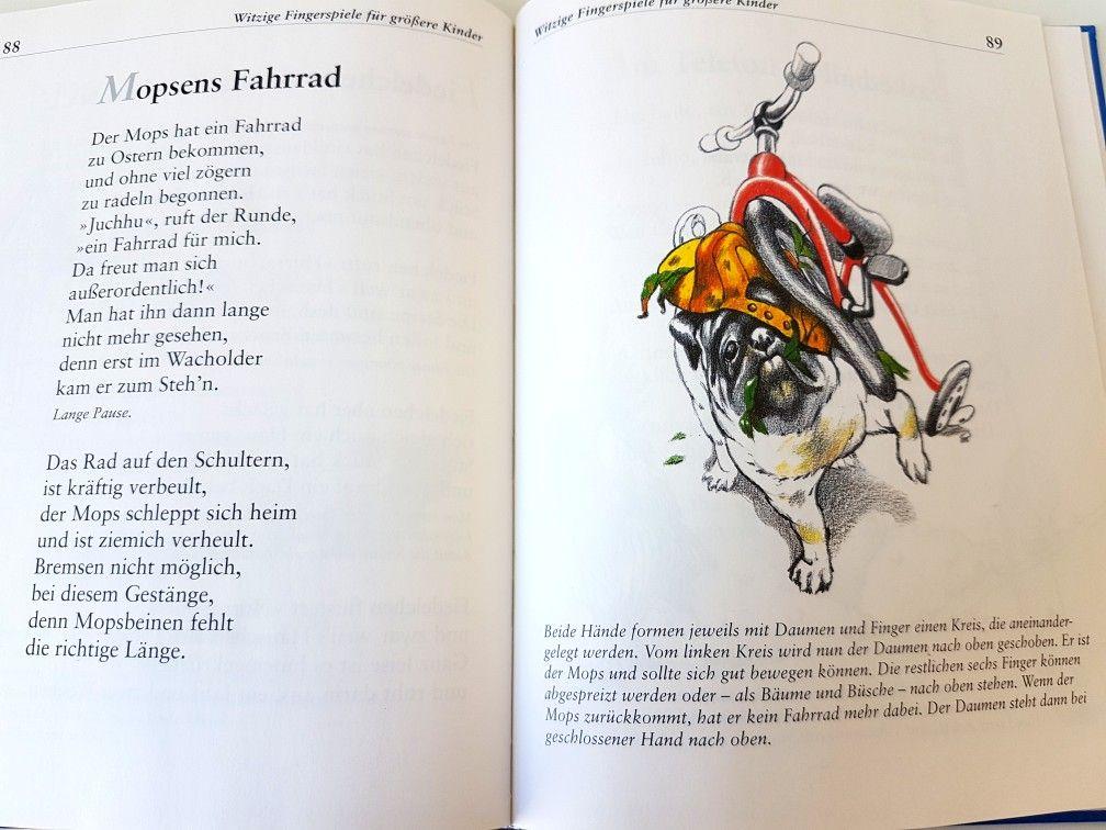 Mopsens Fahrrad Fingerspiel Krippe Kita Kindergarten Kind Reim Gedicht Erzieherin Erzieher Fingerspiele Kinder Reime Kinder Musik
