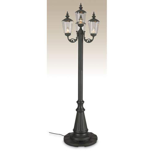 Patio Living Concepts Black Four-Light Cambridge Lantern Park Style Patio Lamp