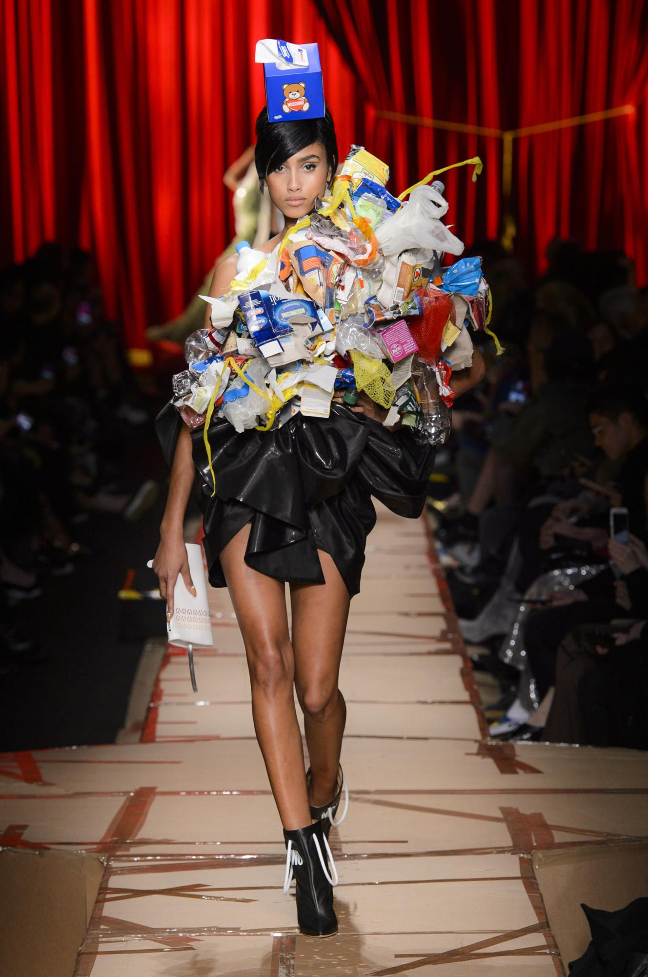 9e7e38863d0a The Moschino Fall 2017 Collection Was Literally Inspired by Trash ...