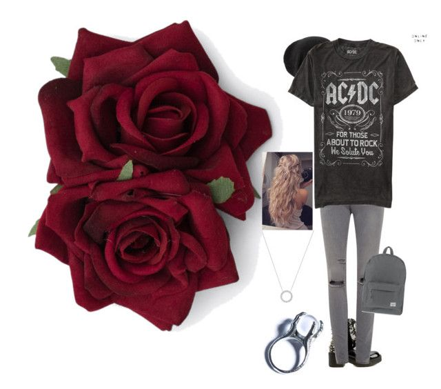 """ACDC Rose"" by dean-winchester-pie ❤ liked on Polyvore featuring Jeffrey Campbell, Frame Denim, Coal, Kill Star, Herschel Supply Co. and Michael Kors"