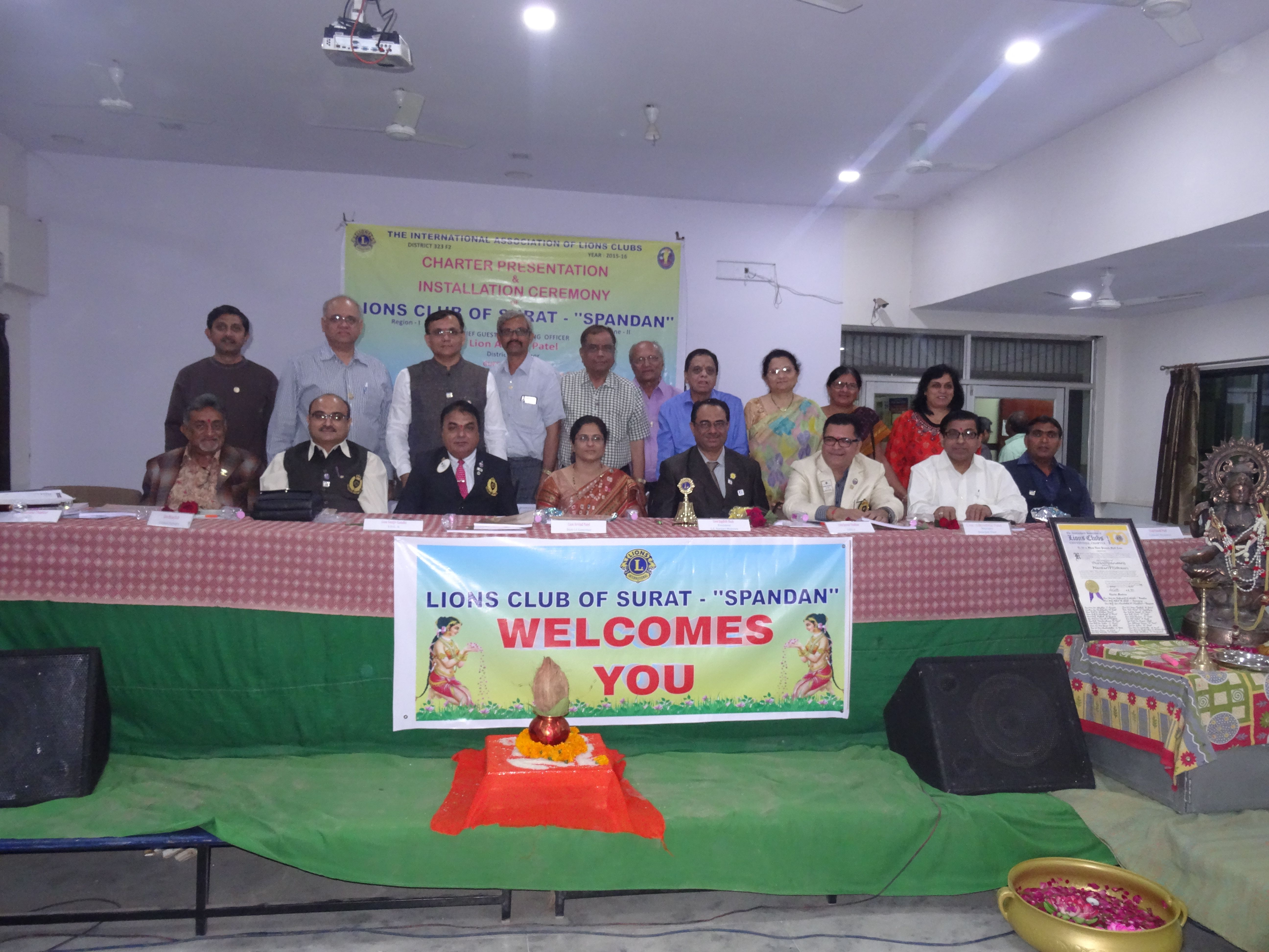 Lions Club of Surat Spandan Meeting At Amroli College 12