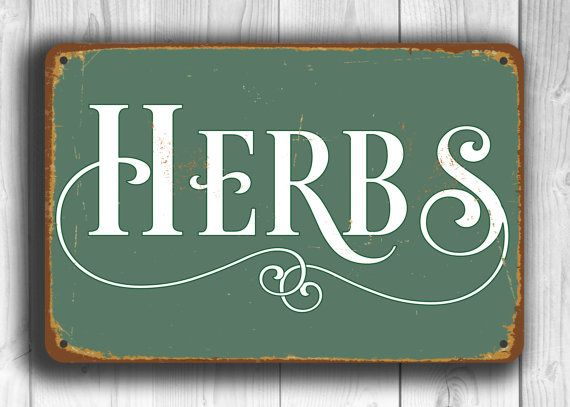 Herbs Kitchen Sign Herbs Kitchen Sign Vintage Style Kitchen