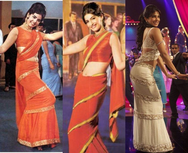 Present yourself in retro style to make amazed the crowd with Mumtaz  draping style, How to Wear Saree for Wedding P…   Mumtaz saree style, Retro  saree, Saree styles