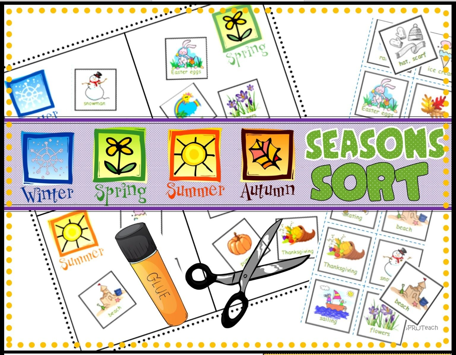 Seasons Sort Cut Amp Paste
