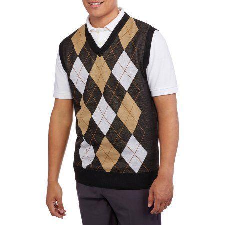 19ded988c Men s V-Neck Argyle Sweater Vest