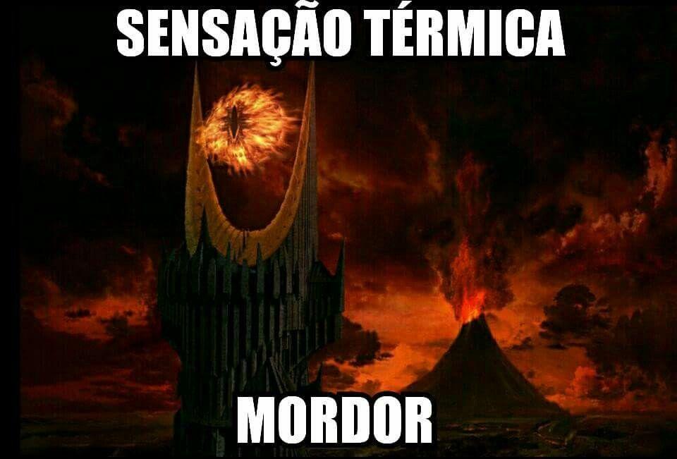 Bom domingo para todos. Sauron manda lembranças. Reposta @nerdmae #domingo #calor #mordor #sauron #LoTr #repost #nerdmãe