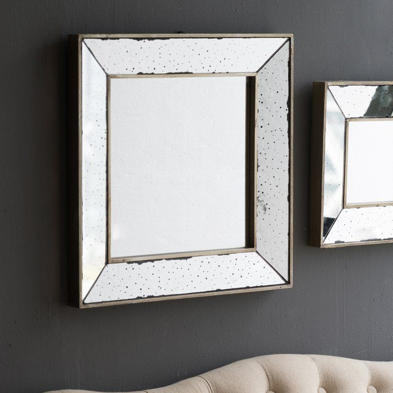 Lark Manor Traditional Square Glass Wall Mirror Reviews Wayfair Mirror Wall Vintage Mirror Wall Farmhouse Mirrors