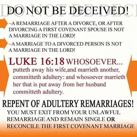 what the bible says about marriage after divorce