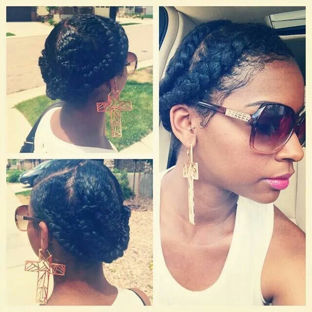 My next Must Try victim... Braided in 5 sections then pinned up