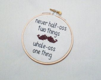 aa2ddeef542a4 Ron Swanson Quote- Never Half Ass Two Things Whole Ass One Thing ...
