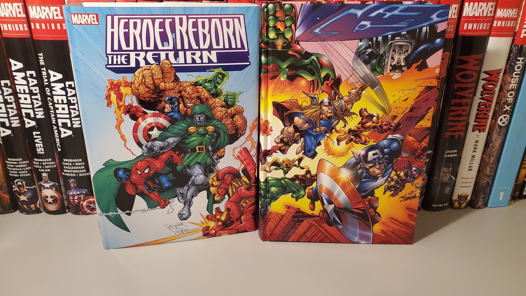 Heroes Reborn The Return Omnibus Overview Video Https M Youtube Com Watch V Tvbg2bzy3fs Marvelcomics Adi In 2020 Comic Book Collection Heroes Reborn Captain Marvel