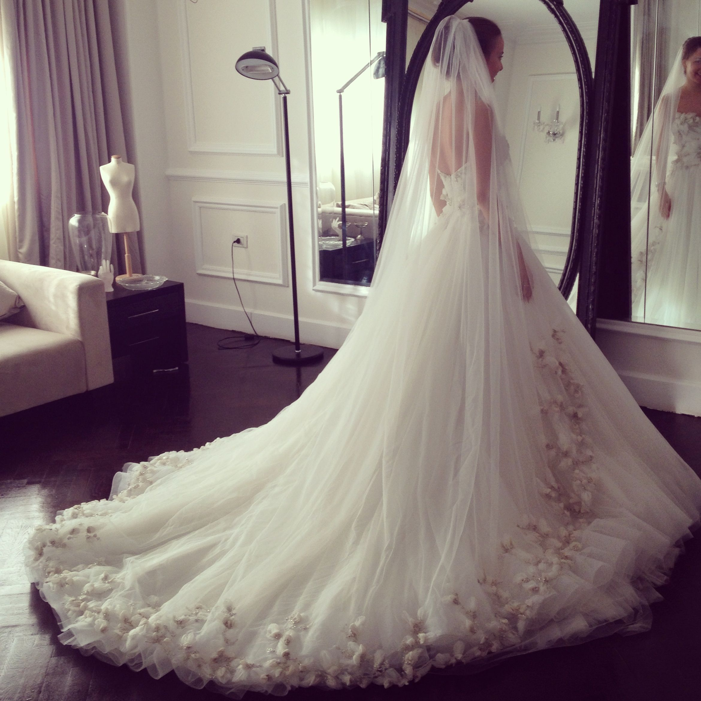 Beautiful wedding gown made by egyptian designer Yasmine Yeya | Maison Yeya …
