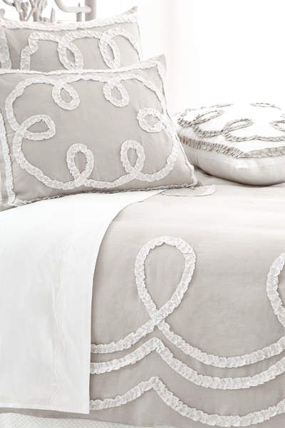 I like this look but for crib bedding... Might have something like this made for the cradle I am getting.