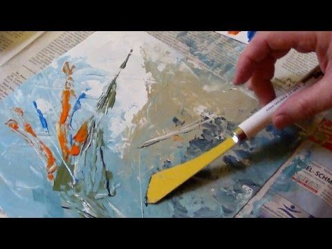 Acrylic painting with a palette knife no brush painting for Palette knife painting acrylic