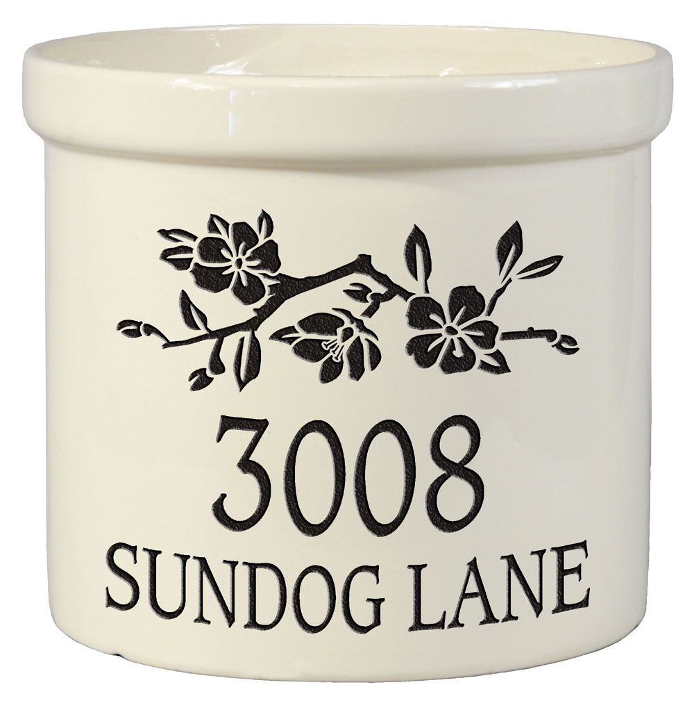 Dogwood Personalized Crock Version B. Ships for Free and only $59.95.