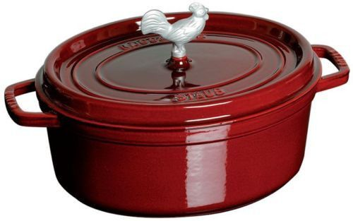 Staub 5.75 Qt Cast Iron Coq au Vin Cocotte Dutch Oven Cooking Pot 6 COLOR CHOICE-1 Each