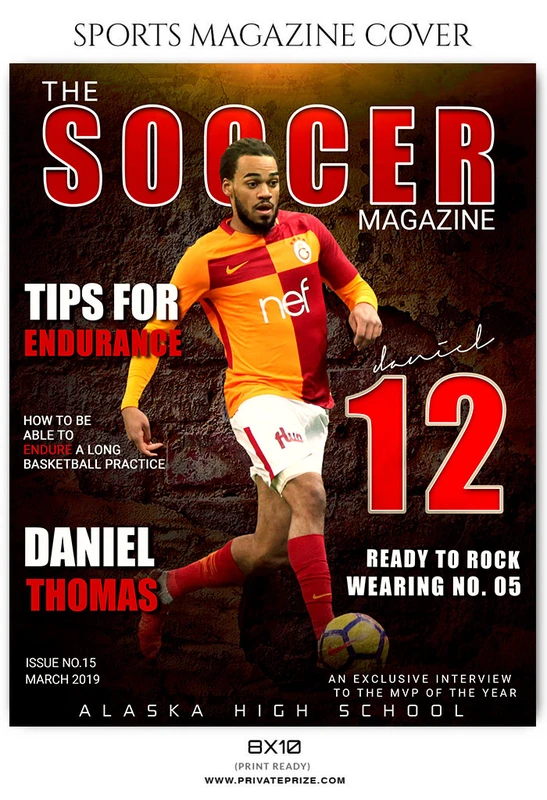 Soccer Sports Photography Magazine Cover Templates In 2020 Sports Magazine Covers Sports Magazine Magazine Cover Template