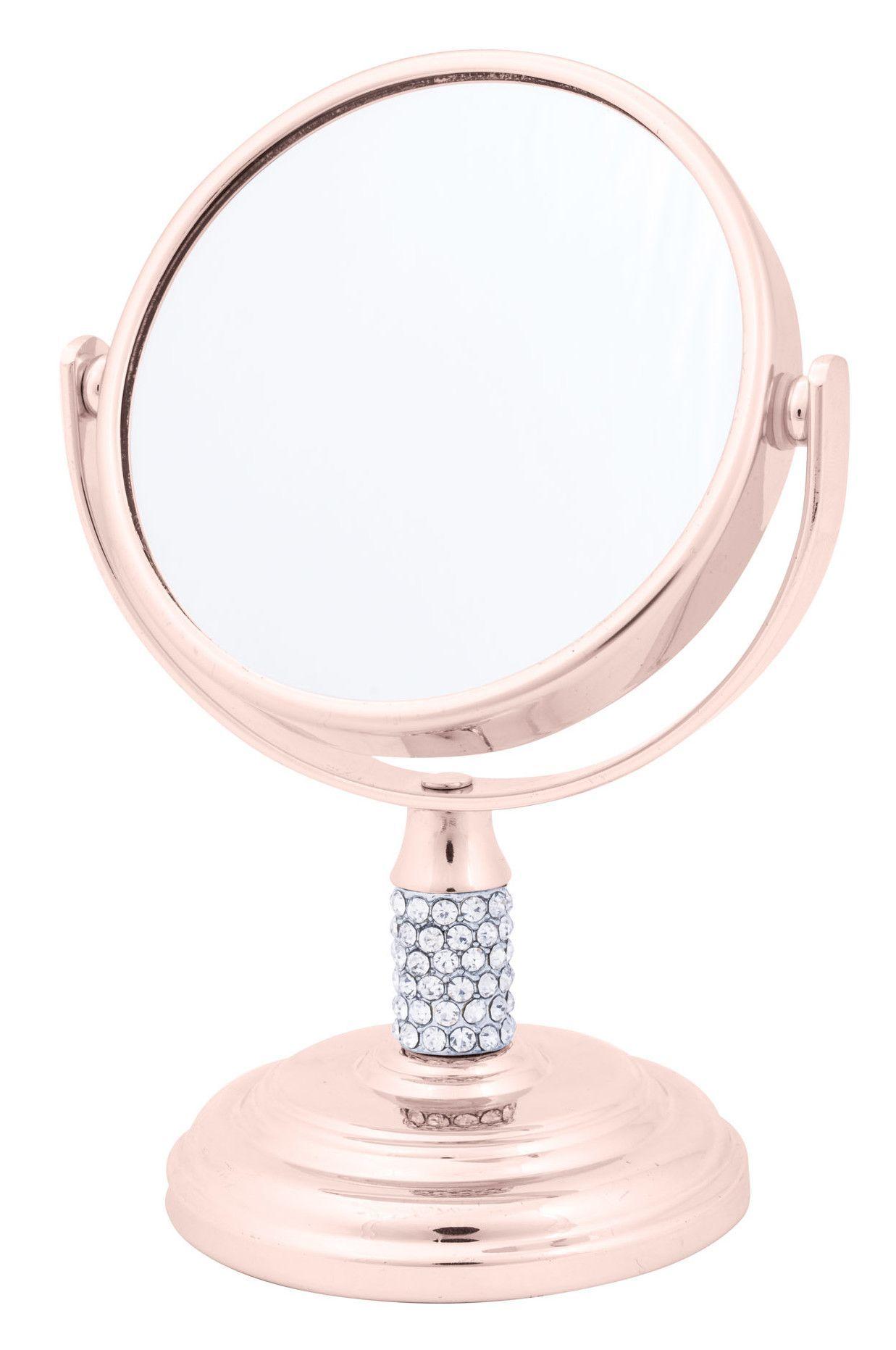 Crystal Mini Mirror Rose Gold Decor Rose Gold Rooms