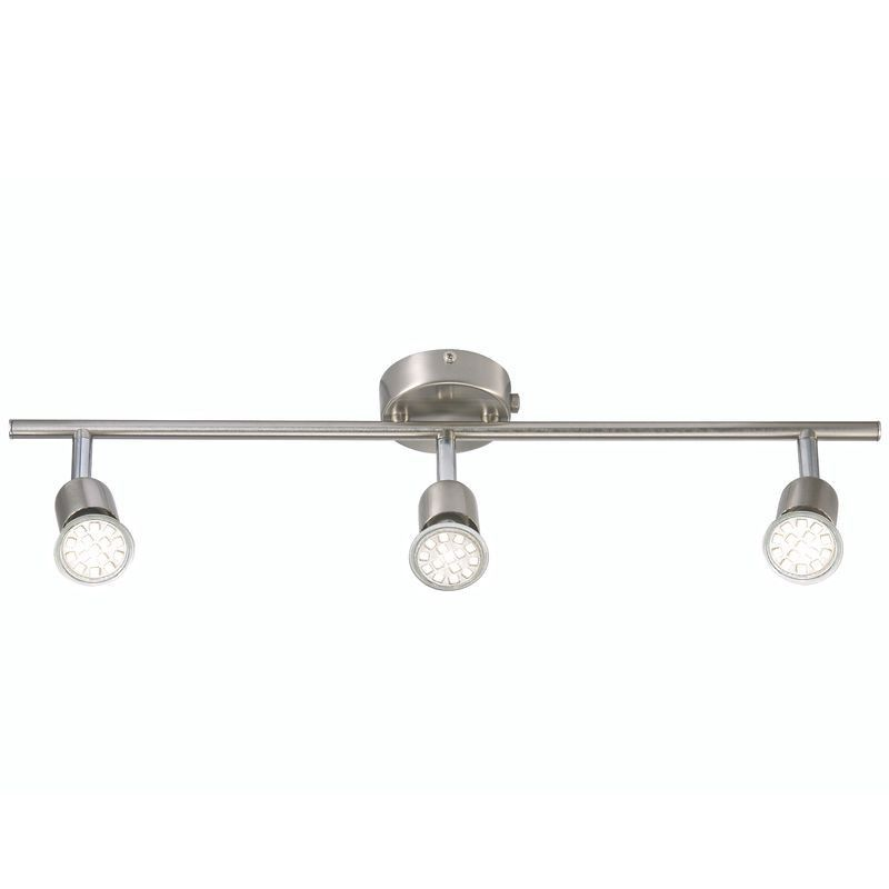 nordlux avenue led triple spotlight bar brushed steel nordlux