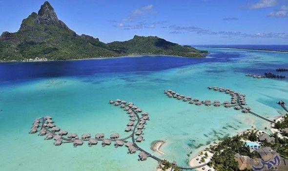 جزيرة Bora Bora بورا بورا الفرنسية أجمل جزر العالم Bora Bora Island Island Getaway Bora Bora Resorts