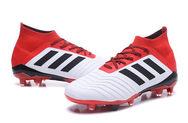 info for 84255 2ffef Botas de fútbol adidas Predator 18.1 FG - Blanco Rojo Negro