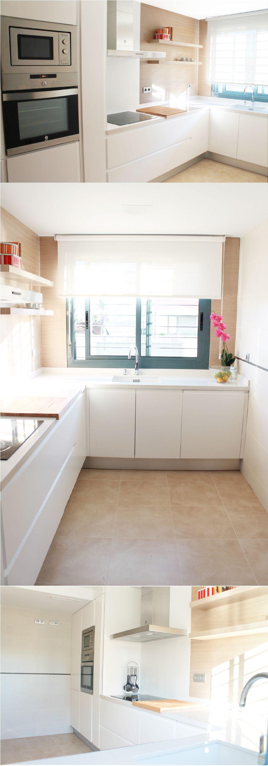 La-casa-de-Miguel-COCINA. Cocina en lacado blanco mate / Roble ...
