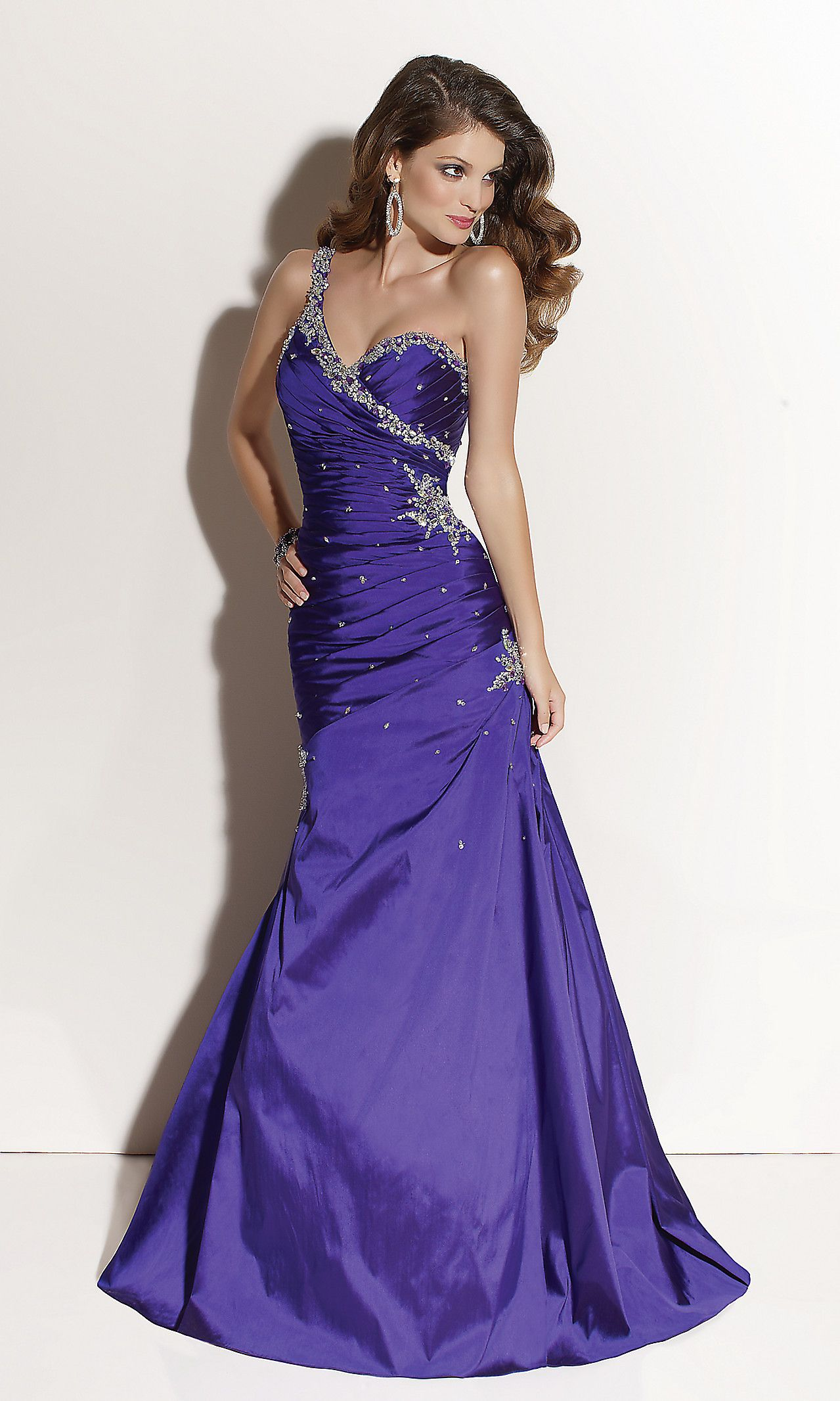 One Shoulder Prom Dresses, Mori Lee Lace Up Prom Gowns | Dresses ...