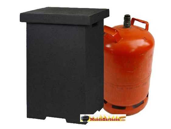 Mesa para cubrir o esconder bombonas de gas de estufas de for Cubrir una pared exterior