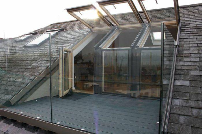 La fenêtre de toit en 65 jolies images Lofts, Attic and Construction - maison avec toit en verre