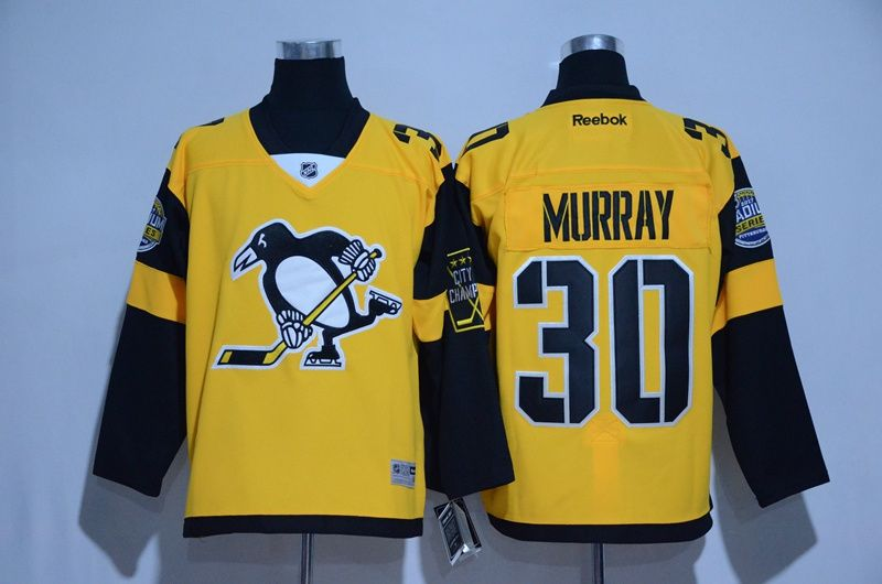 Men s Pittsburgh Penguins  30 Matt Murray Yellow 2016 Winter Classic Hockey  Jerseys e927ef76b
