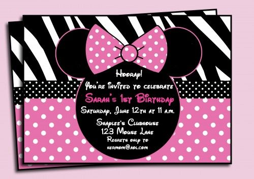 nice minnie mouse birthday invitations printable get more invitation ideas at httpwww