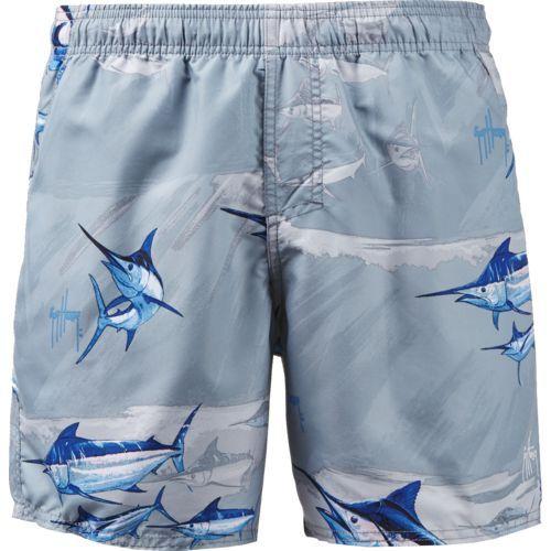 ee401e84eb Guy Harvey Men's Armada Volley Swim Trunks (Silver, Size Medium) - Men's  Swim, Men's Swim Trunk at Academy Sports