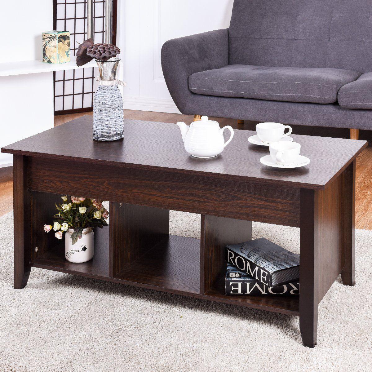 Tangkula Coffee Table Lift Top Wood Home Living Room Modern Lift Top Storage Coffee Table W Hidden Com Coffee Table Wood Furniture Living Room Living Room Wood [ 1200 x 1200 Pixel ]