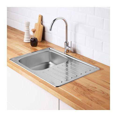 FYNDIG Single Bowl Top Mount Sink   IKEA.ca $55 Reg (sale $39 06