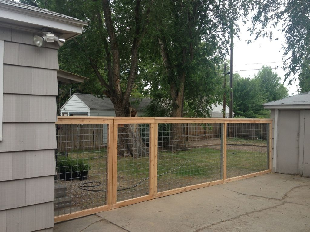 Hog Wire Fence Similar To What I M Building Landscaping