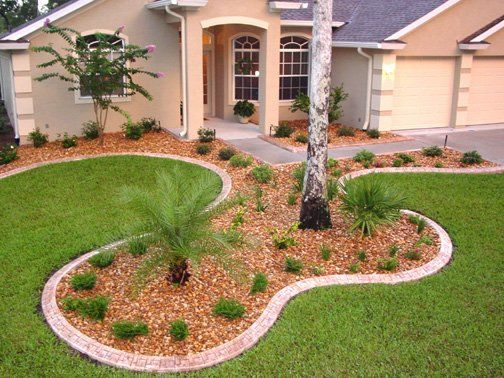 Beautiful landscape edging ideas with some plants stone for Front yard edging ideas